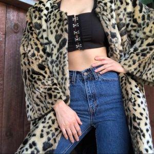 Jackets & Blazers - Leopard/cheetah print faux fur coat